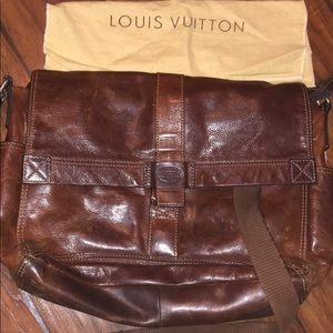 Fossil bag leather bag satchel Louis case